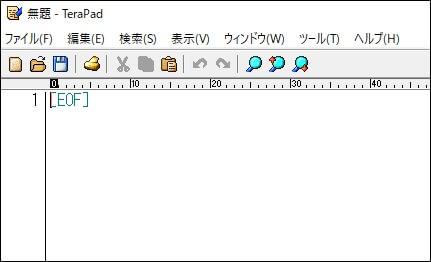TeraPadを起動画面