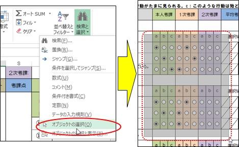 初期化対象のセルの範囲指定