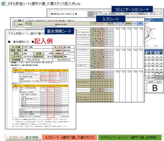 スキル評価シートの全体構成画像