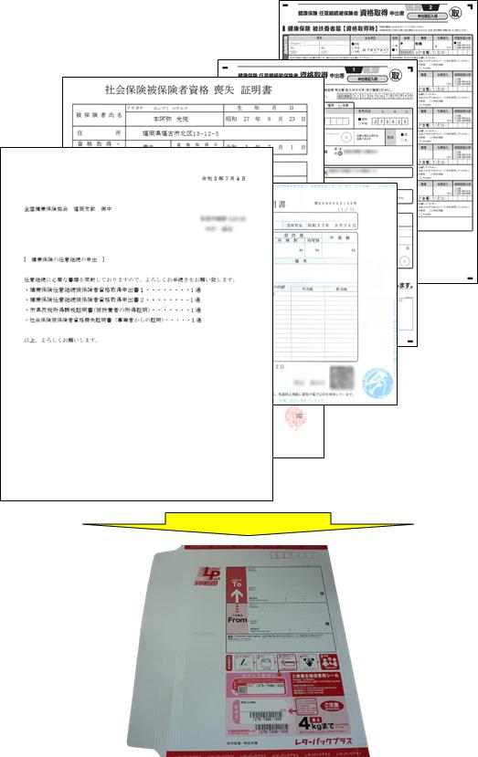 任意継続手続き書類一式